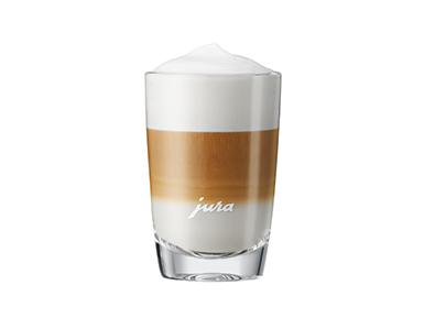 Latte-macchiato-Glas Niedrig